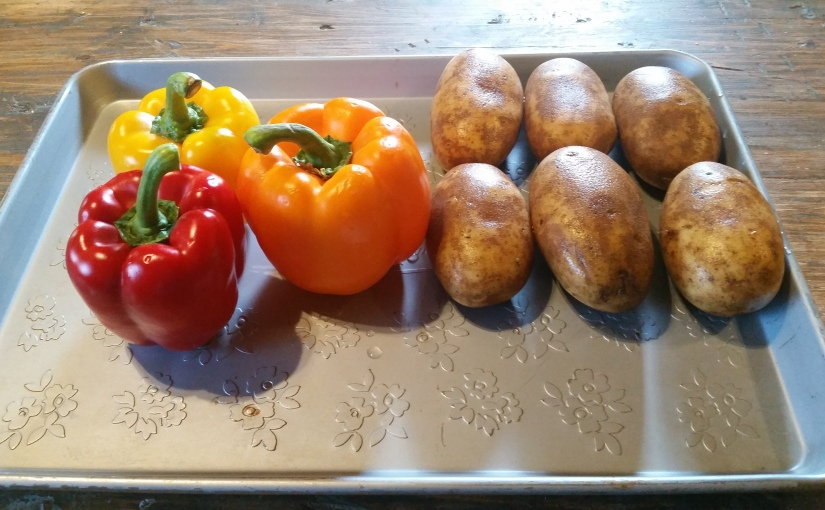 Roasted Bell Peppers and Potatoes